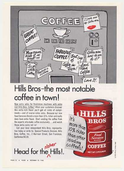 Hills Bros Coffee for Vending Machine Trade (1968)
