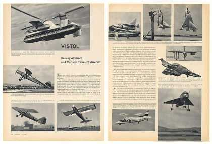 V/STOL Short Vertical Aircraft 5-Pg Photo Article (1960)