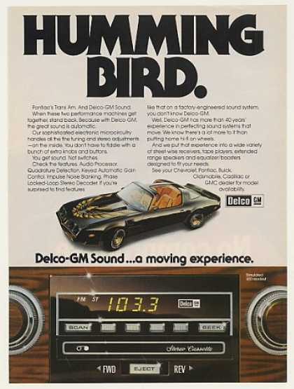 Pontiac Trans Am Humming Bird GM Delco Sound (1980)