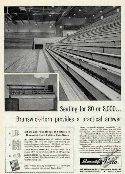 Northside Gym Elkhart In Brunswick-horn Seating (1955)