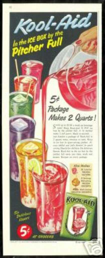 Perkins Kool-Aid Six Flavors Vintage (1951)