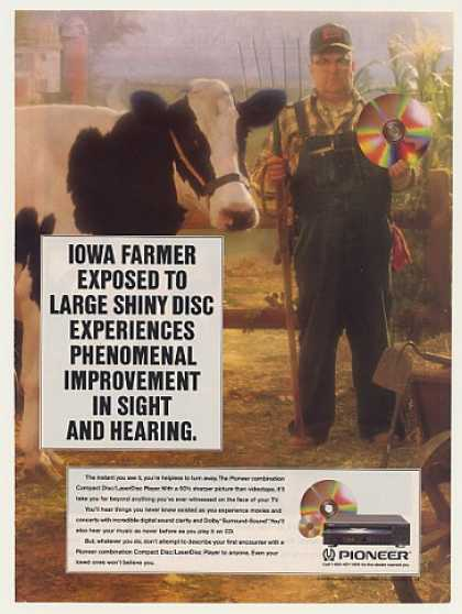 Iowa Farmer Pioneer CD LaserDisc Player (1990)