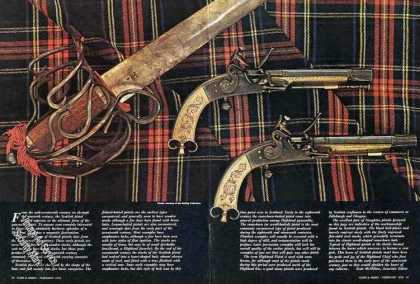 "Magazine Photo & Article ""Scottish Pistols"" (1975)"
