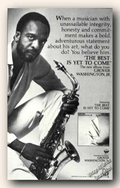 Grover Washington Photo Saxaphone Album Promo (1983)
