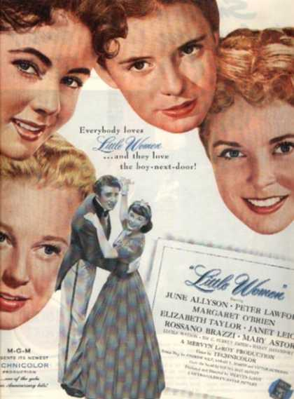 Little Women (June Allyson, Peter Lawford, Margaret O&#8217;Brien and Elizabeth Taylor) (1949)