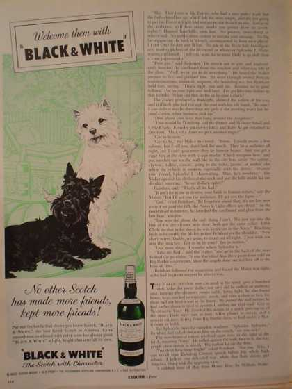 Black and White Scotch Scotty dogs Friends (1961)