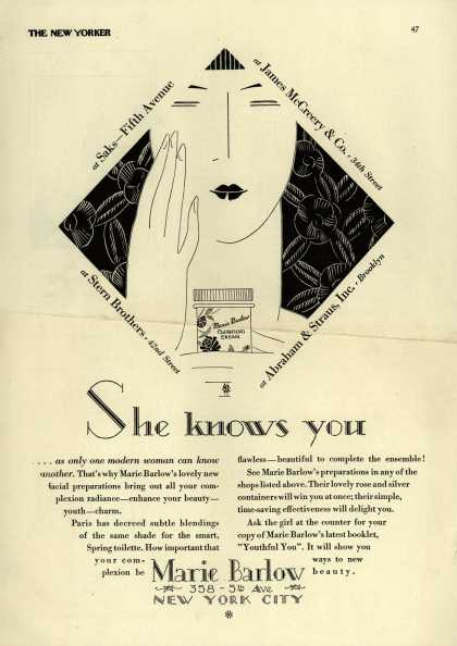 Marie Barlow – She knows you (1927)