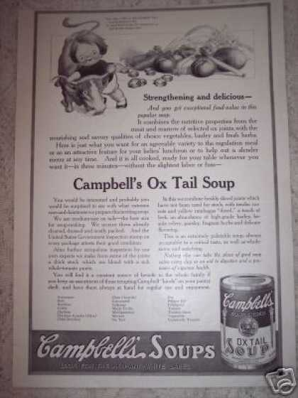 Campbells Kid Ox Tail Soup (1917)