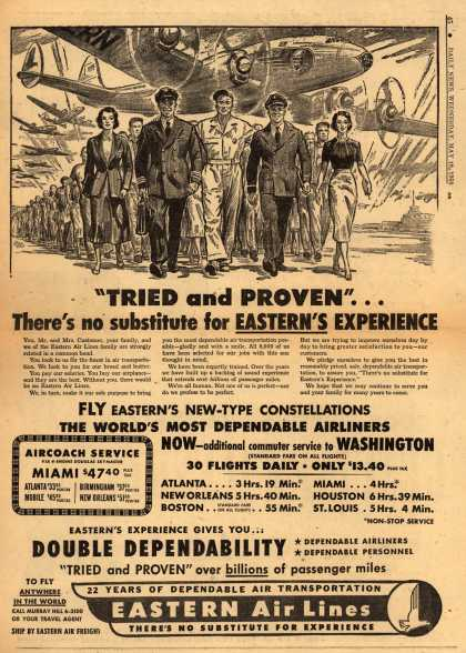 "Eastern Air Lines – ""Tried and Proven""... There's no substitute for Eastern's Experience (1950)"