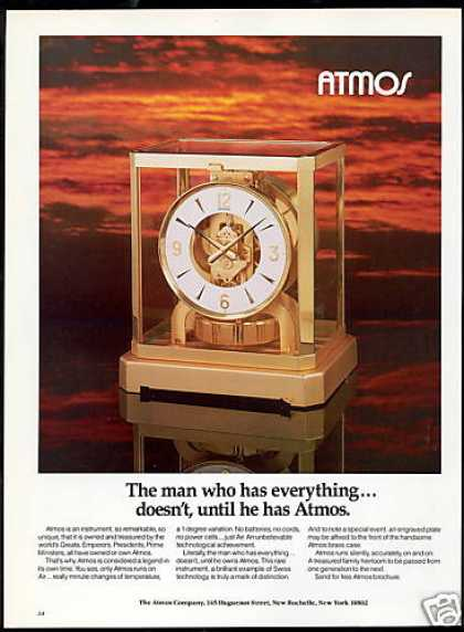 Atmos Air Clock Family Heirloom Photo (1983)