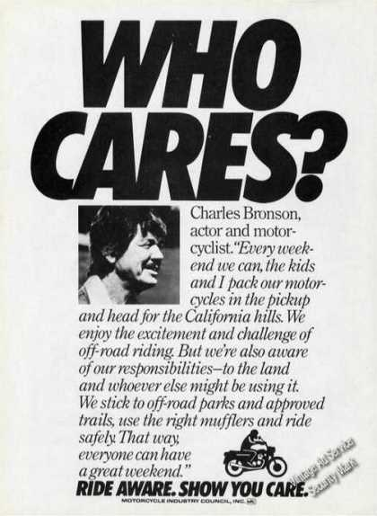 Charles Bronson Ride Aware Motorcycle (1983)
