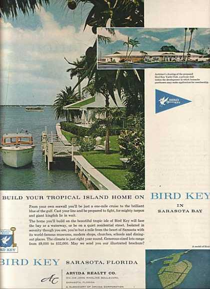 Bird Key's Sarasota Bay, Florida (1960)