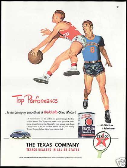 Texaco Oil Gas Basketball Game Performance (1948)