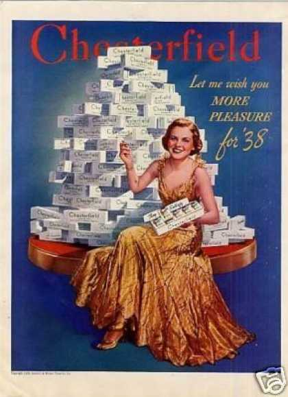 Chesterfield Cigarettes Color (1938)