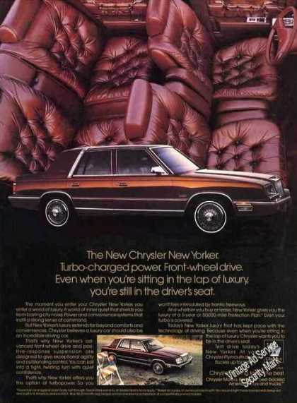 "Chrysler New Yorker Photos ""Lap of Luxury"" (1987)"