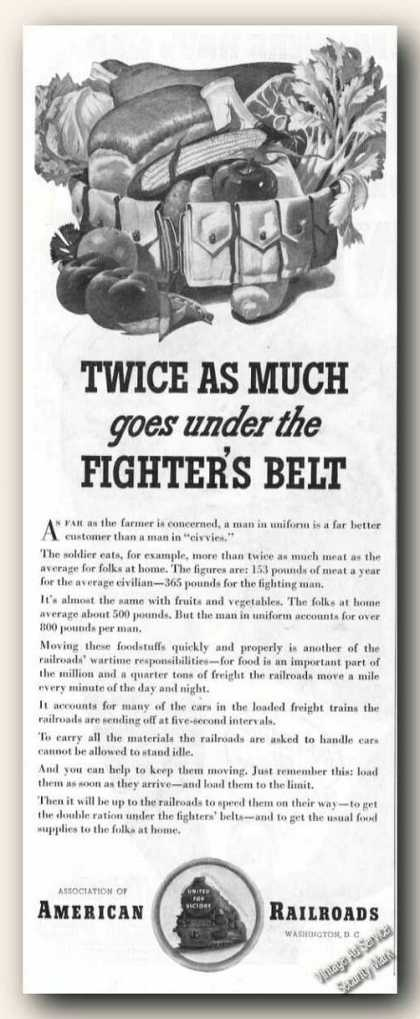 Twice Under Fighters Belt Art Wwii Railroads (1942)