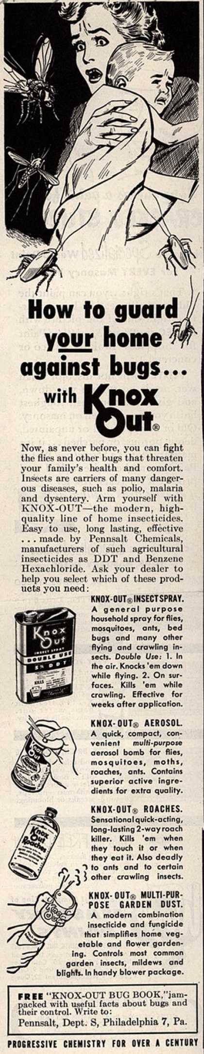 Pennsalt Chemical's Knox-Out – How to Guard Your Home Against Bugs...with Knox Out (1952)