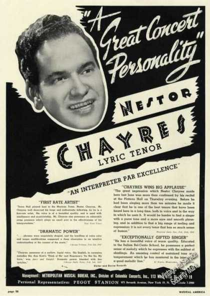 Nestor Chayres Lyric Tenor Antique Music (1947)