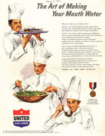 United Air Line's In-flight meals – The Art of Making Your Mouth Water (1951)