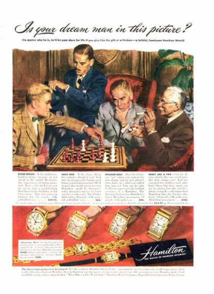 Hamilton Watch Chess Six Watches Detailed (1947)