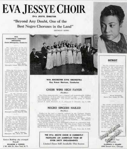 Eva Jessye Choir Photos Rare Collectible Trade (1939)