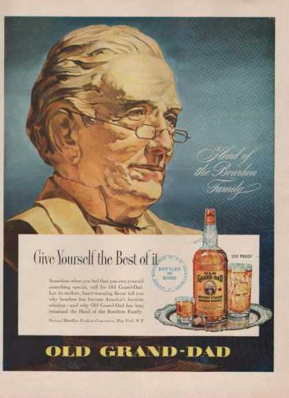 Head of Bourbon Family Old Grand Dad (1949)