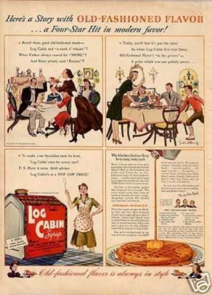 "Log Cabin Syrup Ad ""Here's a Story... (1941)"