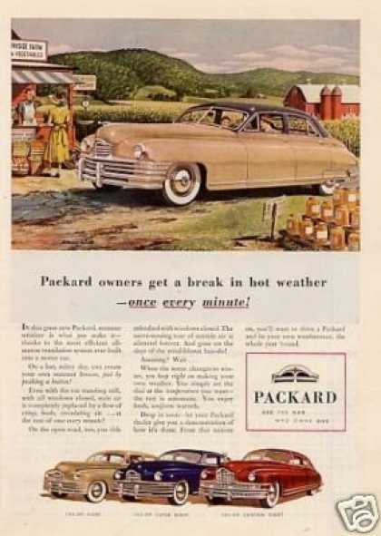 "Packard Car Ad ""Packard Owners Get a Break... (1948)"