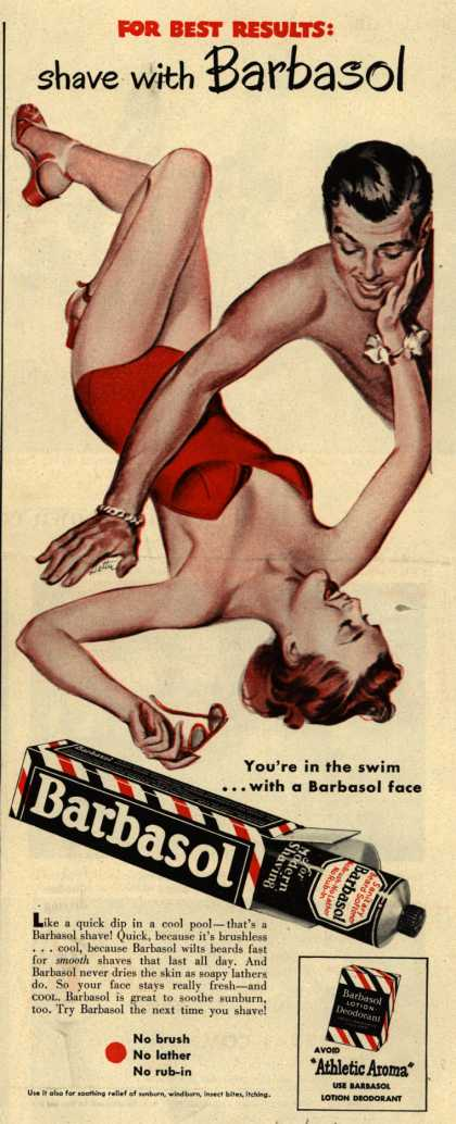 Barbasol – For Best Results: shave with Barbasol (1949)