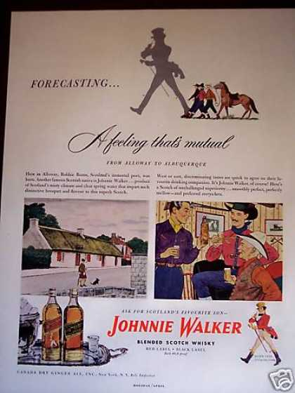 Alloway To Albuquerque Johnnie Walker Scotch (1948)