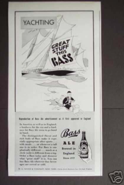 Bass Ale Yachting Art Original (1938)