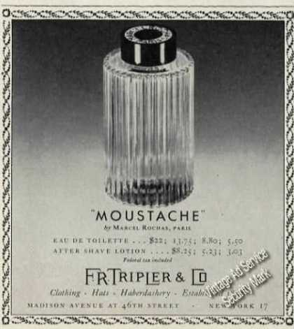 """Moustache"" By Marcel Rochas Paris (1955)"