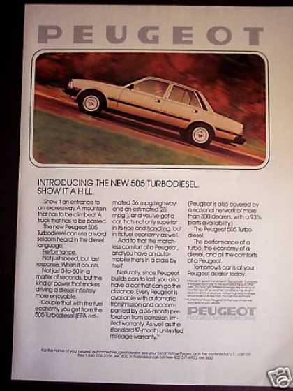 Peugeot 505 Turbodiesel Car Photo (1980)