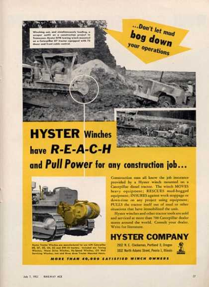 Hyster Company Train Rr Construction (1952)