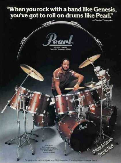 Chester Thompson Photo Nice Pearl Drums (1981)