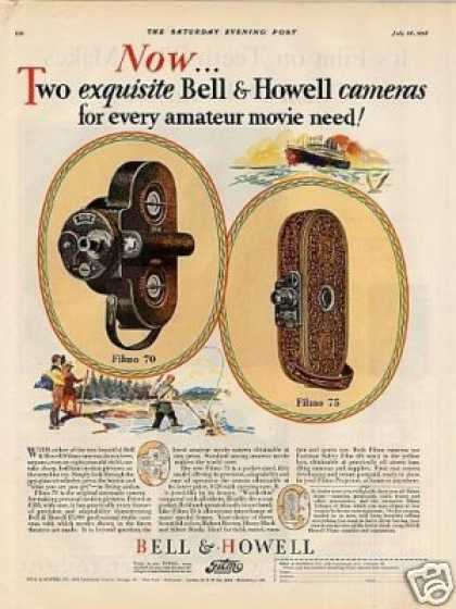 Bell & Howell Filmo Movie Cameras Color (1928)