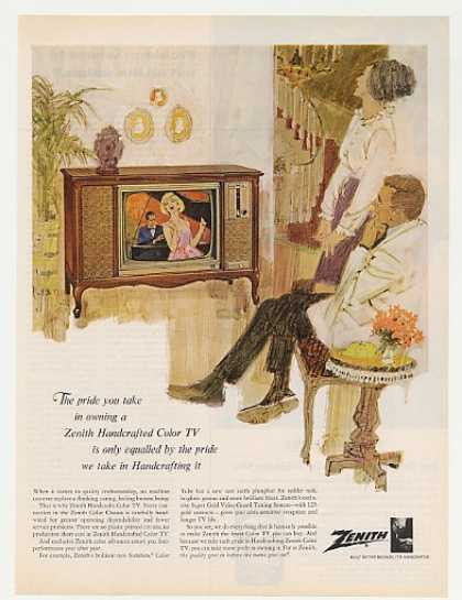 Zenith Handcrafted Color TV Television (1965)