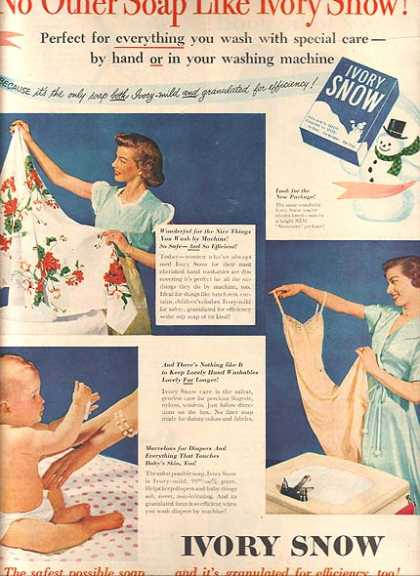 Ivory Snow's Laundry Soap (1951)