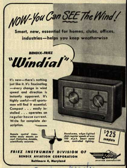 Bendix Aviation Corporation's Bendix-Friez Windial – Now- You Can See the Wind (1947)