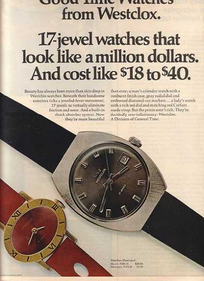 Westclox's 17-jewel watches (1970)