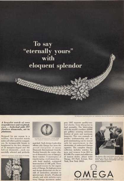 Omega Splendor In Platnum & 197 Diamonds (1965)