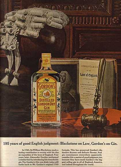Gordon's Distilled London Dry Gin (1964)