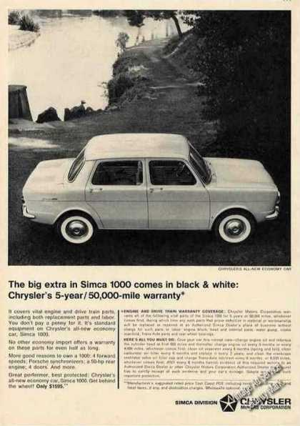 Simca Chrysler's All-new Economy Car (1964)