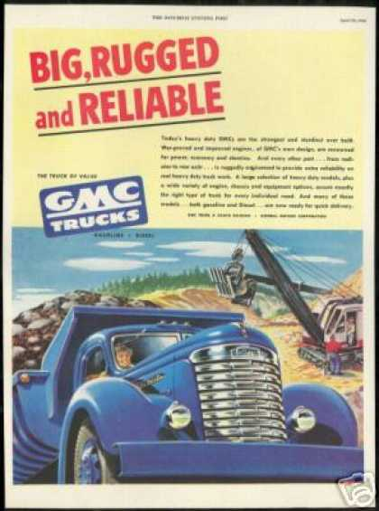 GMC Big Truck Power Shovel Vintage (1948)