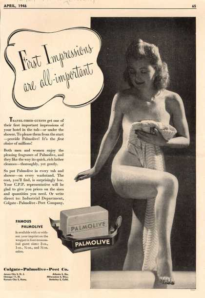 Colgate-Palmolive-Peet Company's Palmolive Soap – First Impressions are all-important (1946)
