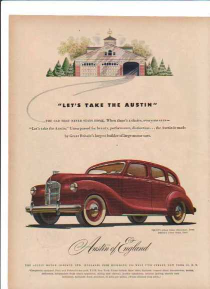 Austin of England Car – Devon 4-Door Sedan – Sold (1948)