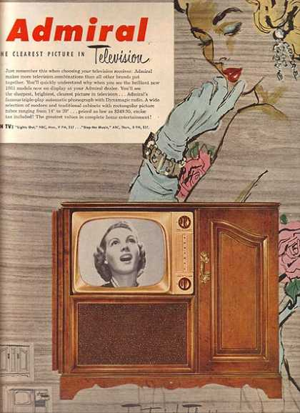 Admiral's Television Receivers (1951)