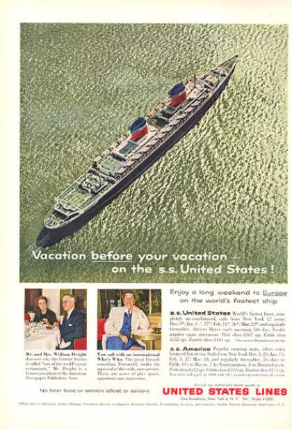 United States Lines Cruise Ship Boat (1959)