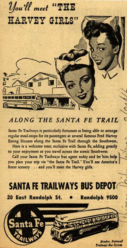 "Santa Fe Trailways – You'll meet ""The Harvey Girls"" (1946)"