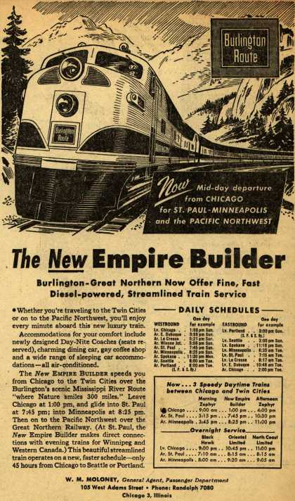 Burlington Route's New Empire Builder – The New Empire Builder (1947)